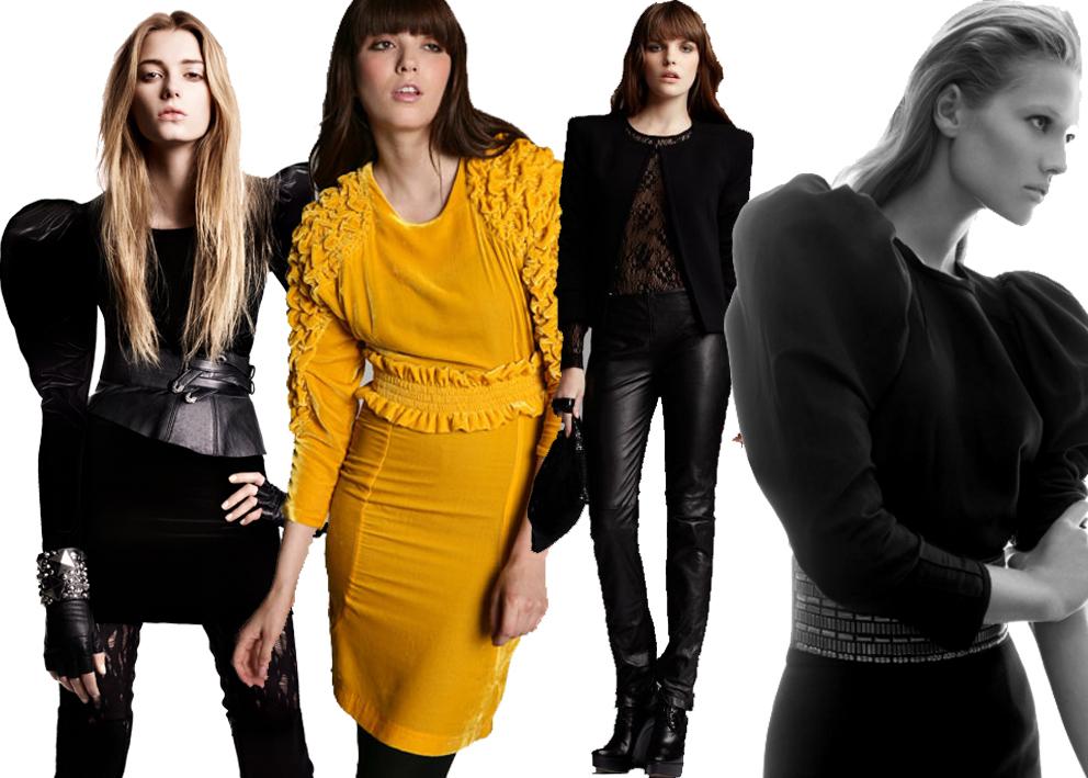 De gauche à droite: Lokk H&M; Robe Urban Outfitters; Look Sinéquanone; Robe Zara
