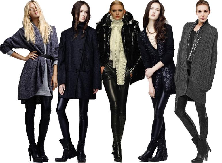 De gauche à droite: Look Zara;Look  Sandro; défilé Givenchy hiver 2008; Look Sandro, Look IKKS