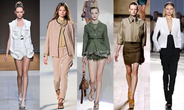 De gauche à droite: Yves Saint Laurent, Chloé, Marc Jacobs, Céline, Givenchy