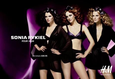 Collection lingerie hiver 2009 Sonia Rykiel pour H&M