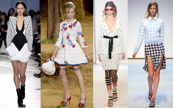De gauche à, droite: Givenchy, Chanel, Marni, Christopher Kane