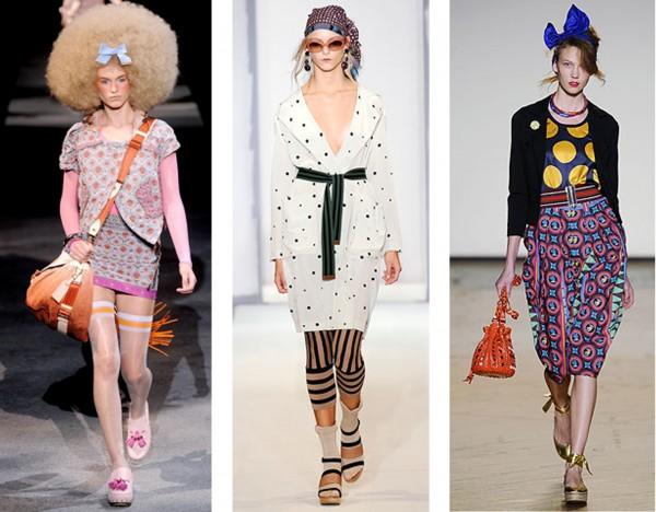 De gauche à droite: Louis Vuitton, Marni, Marc by Marc Jacobs