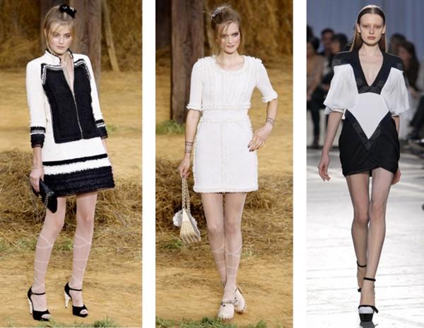 De gauche à droite: Chanel, Givenchy