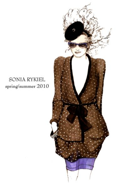 Sonia Rykiel. Illustration d'Alison Bottemanne