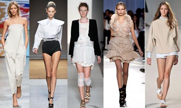 De gauche à droite: Stella McCartney, Yves Saint Laurent, Vanessa Bruno, Givenchy, Chloé