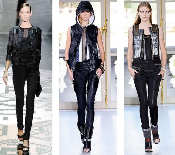 De gauche à droite:Gucci, Balenciaga