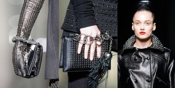 Collection automne-hiver 2009.De gauche à droite: Cavalli, Yves Saint Laurent.