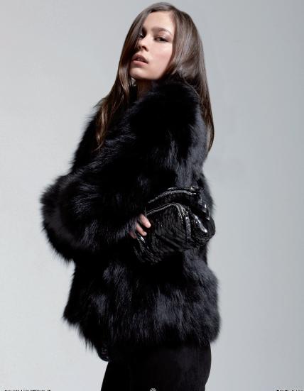 Comment porter la fourrure: Maje, collection hiver 2009.