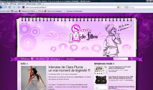Secrets de filles, webzine tendance!