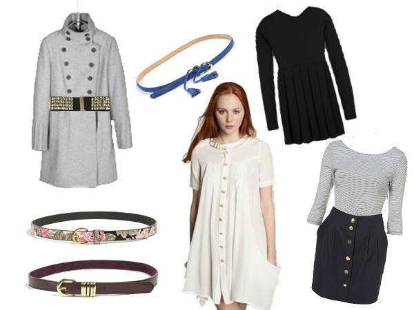 1 robe, 365 jours: comment détourner une même pièce?  Manteau gris Zara, look Urban Outfitters, robe noire Zara, robe trompe l'oeil Topshop, les ceintures viennent de chez Urban Outfitters.