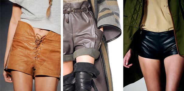 Comment porter le short en cuir? De gauche à droite: Alexander Wang été 2010, Chloé hiver 2009, Chloé été 2010.