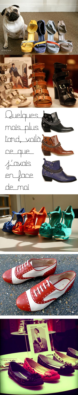 6 blogueuses créent des chaussures pour André. De haut en bas: Ballibulle, Walinette, Coline, Violette, Miss Glitzy et Minmor.