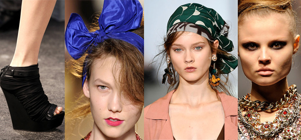 Accessoires printemps-été 2010.De gauche à droite: Givenchy, Marc by Marc Jacobs, Marni, Lanvin.www.style.com