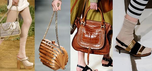 Accessoires printemps-été 2010. De gauche à droite:Chanel, Stella Mc Cartney, Chloé, Marni. www.style.com