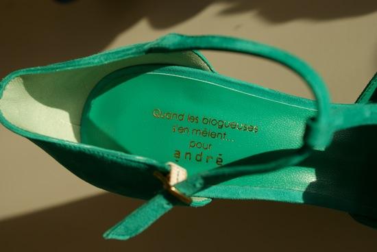 6 blogueuses créent des chaussures pour André.Source:www.http://soisbelleetparle.fr