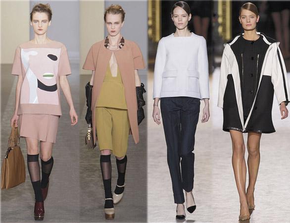Best of des défilés Fashion Week Hiver 2010. Collection Marni (2 looks de gauche) et Stella McCartney(2 looks de droite). Source:http://madame.lefigaro.fr