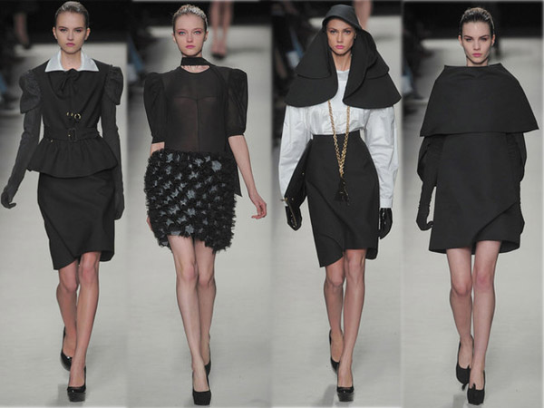 Best of des défilés Fashion Week Hiver 2010. Collection Yves Saint Laurent. Source:http://madame.lefigaro.fr