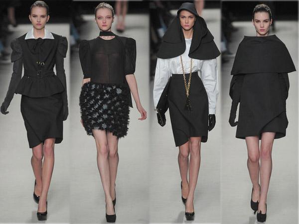 Best of des défilés Fashion Week Hiver 2010. Collection Yves Saint Laurent. Source:http://madame.lefigaro.fr