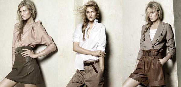 Tendances été 2010: vestiaire utilitaire. Collection Zara.