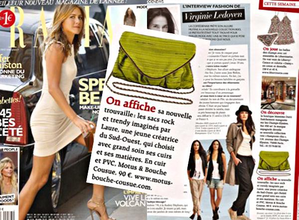 Découverte créateur: Motus & Bouche Cousue. Parution dans le magazine Grazia