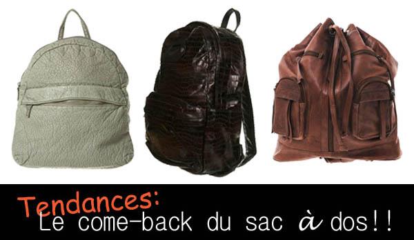 Tendances printemps-été 2010: le sac à dos