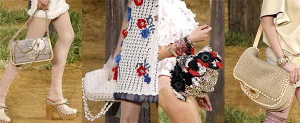 Tendance champêtre chez Chanel: printemps-été 2010. Défilé Chanel été 2010. Source:www.style.com