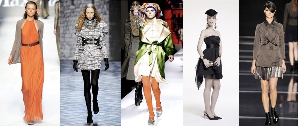 Max Mara - JCDC - Jean Paul Gaultier - Paule Ka - Cacharel - Les accessoires tendances de l'hiver 2010-2011