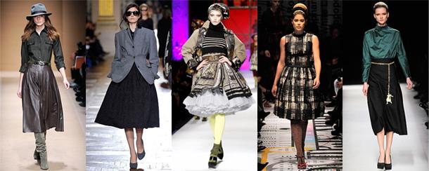 Salvatore Ferragamo - Dries Van Noten - Jean-Paul Gaultier - Prada - Yves Saint Laurent - Quelle hauteur de jupe pour cet hiver?
