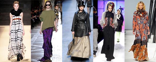 Adam - Dries Van Noten - Hermès - Jean-Paul Gaultier - Kenzo - Quelle hauteur de jupe pour cet hiver?