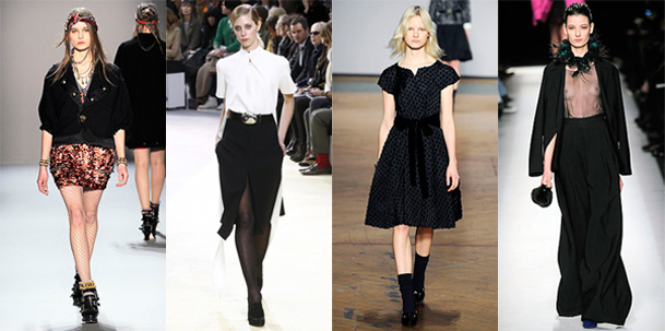 A. Herchcovitch - Céline - Marc Jacobs - Yves Saint Laurent - Quelle hauteur de jupe pour cet hiver?
