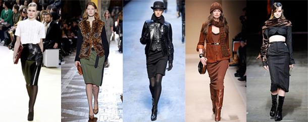 Céline - Dries Van Noten - Hermès - Salvatore Ferragamo - Alexander Wang - Quelle hauteur de jupe pour cet hiver?