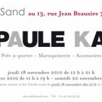 Du 17 au 20 novembre Paul Ka