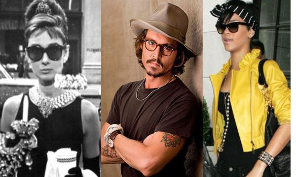 Audrey Hepburn - Johnny Depp - Rihanna - Wayfarer de Ray-Ban