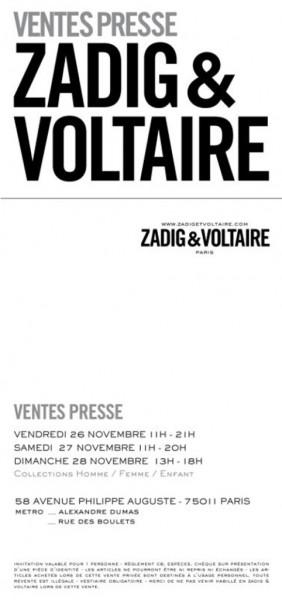 vente presse et vente privée 2010-2011
