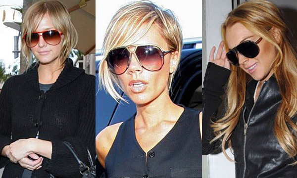 Ashlee Simpson - Victoria Beckham - Lindsay Lohan - Tendances Lunettes hiver 2010-2011