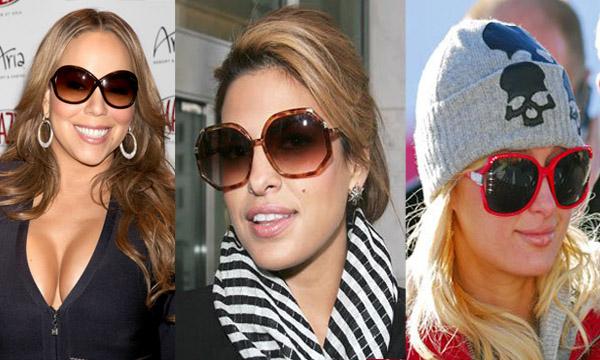 Mariah Carey - Eva Mendes - Paris Hilton - Tendances Lunettes hiver 2010-201