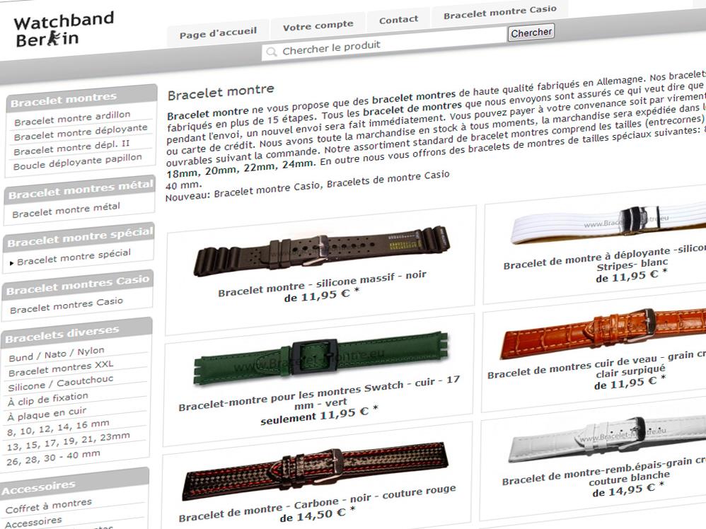 Où trouver un bracelet de montre branché ?